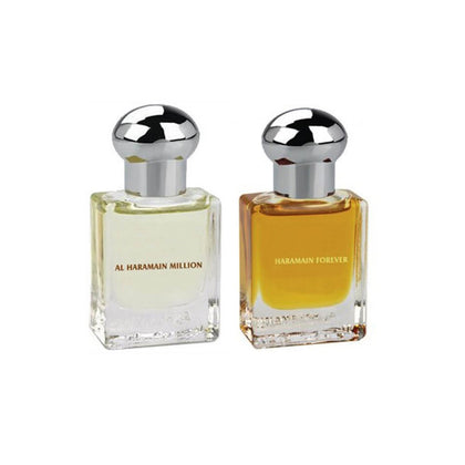 Al Haramain Million & Forever Fragrance Pure Original Roll on Perfume Oil Pack of 2 (Attar) - 2 x 15 ml