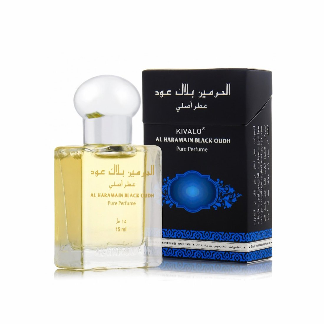 Al Haramain Black Oudh & Forever Roll on Pack of 2 Attar - 2 x 15ml