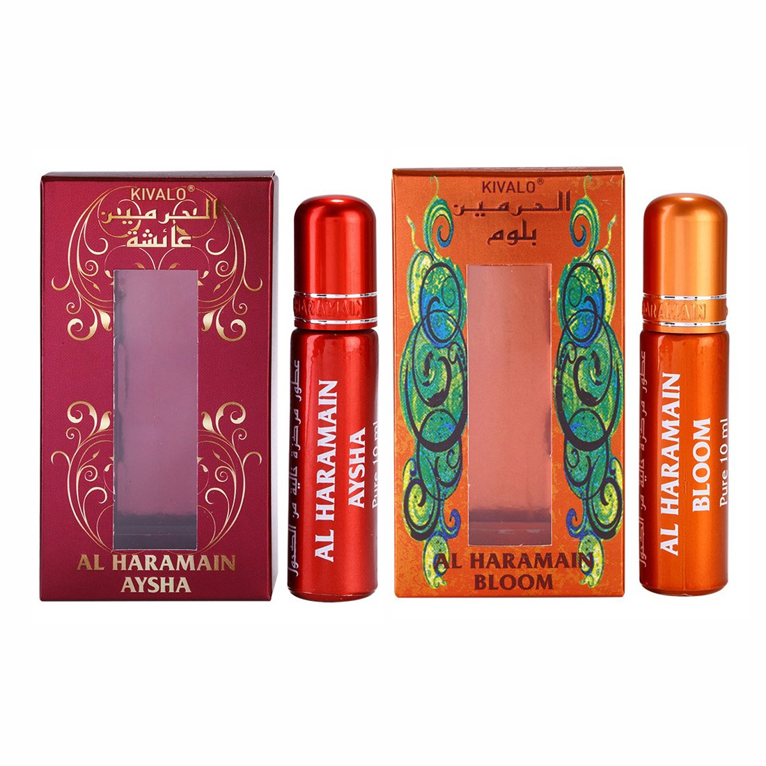 Al Haramain Aysha & Bloom Roll On Attar Pack of 2 x 10ml