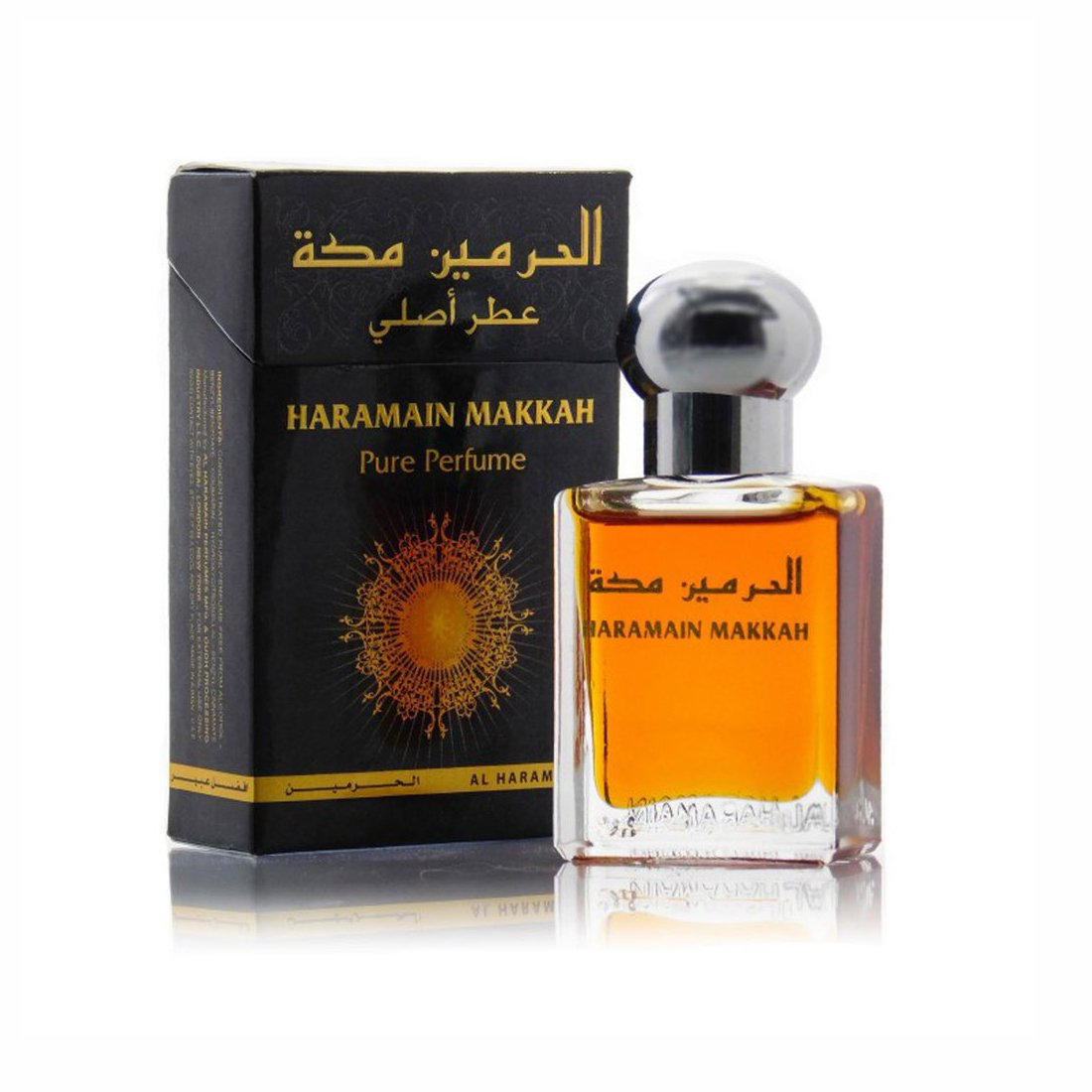 Al Haramain Makkah & Hajar Fragrance Pure Original Roll on Perfume Oil Pack of 2 (Attar) - 2 x 15 ml