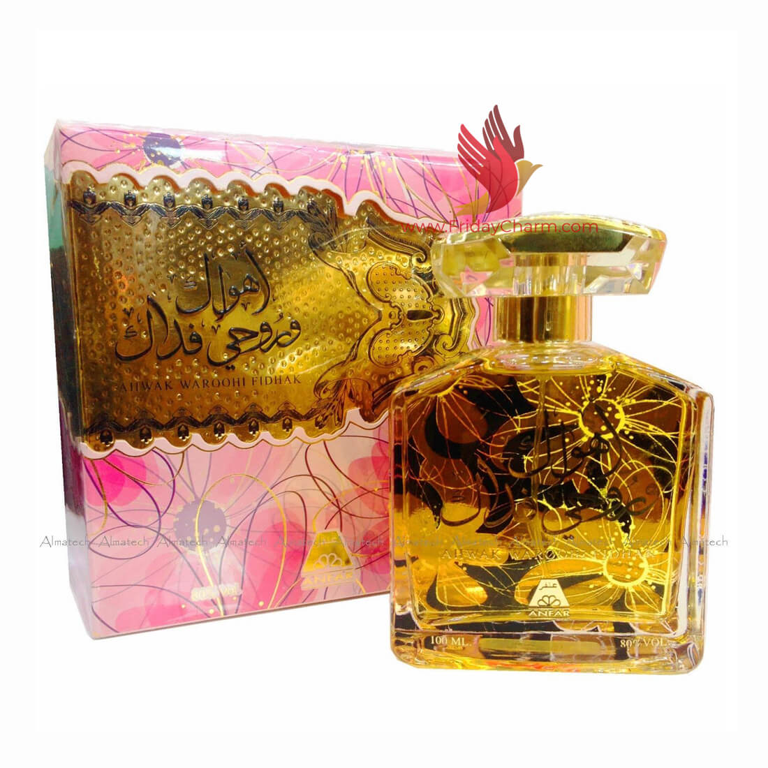Anfar Ahwak Waroohl Fidha Oud Perfume For Men