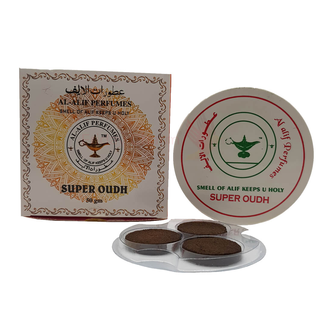 Al Alif Super Oudh Bakhoor Coin Home Fragrance - 50g