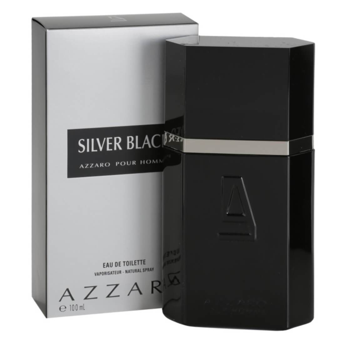 Azzaro Silver Black Eau De Toilette For Men 100ml
