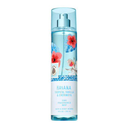 Bath & Body Works Havana Tropical Vanilla And Cherimoya Signature Collection Fragrance Mist 236ml