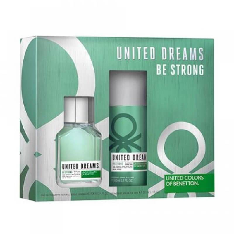 United Colours of Benetton Be Strong Perfume Gift Set for Men EDT 100ml + Deodorant Spray 150ml