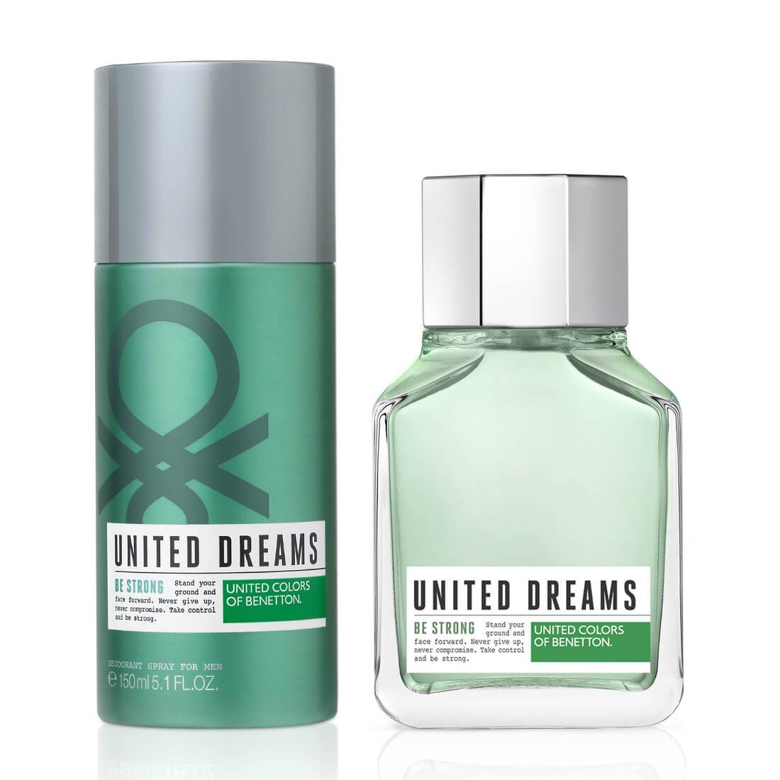 United Colours of Benetton Be Strong Perfume Gift Set For Men