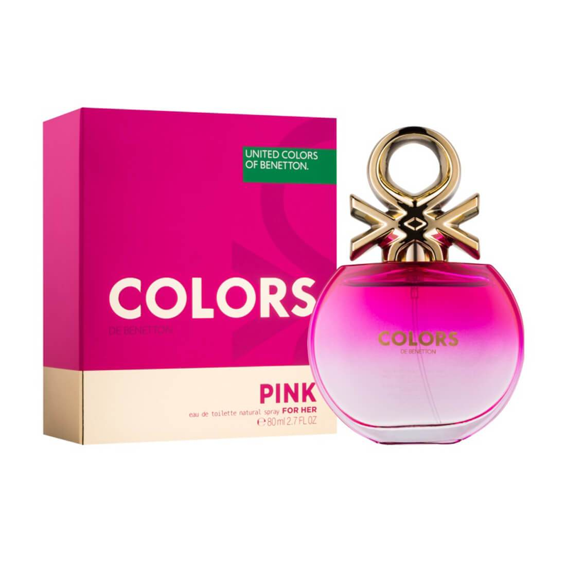 United Colors of Benetton Colors De Benetton Woman Pink Eau De Toilette For Women 80ml