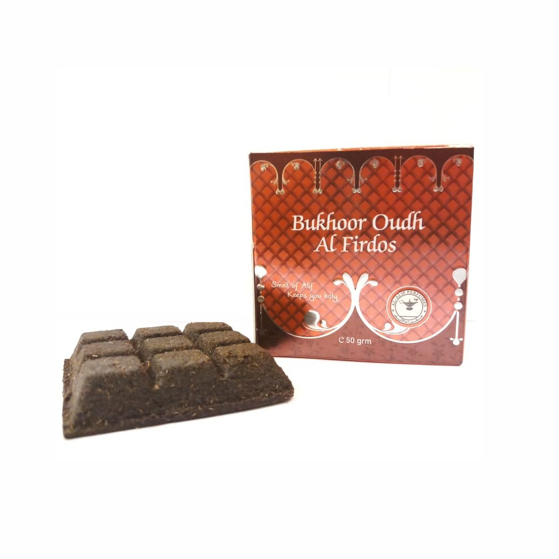 Alif Bukhoor Oudh Abyad & Al Firdous Incense Home Fragrance Combo Pack Of 2 x 50g