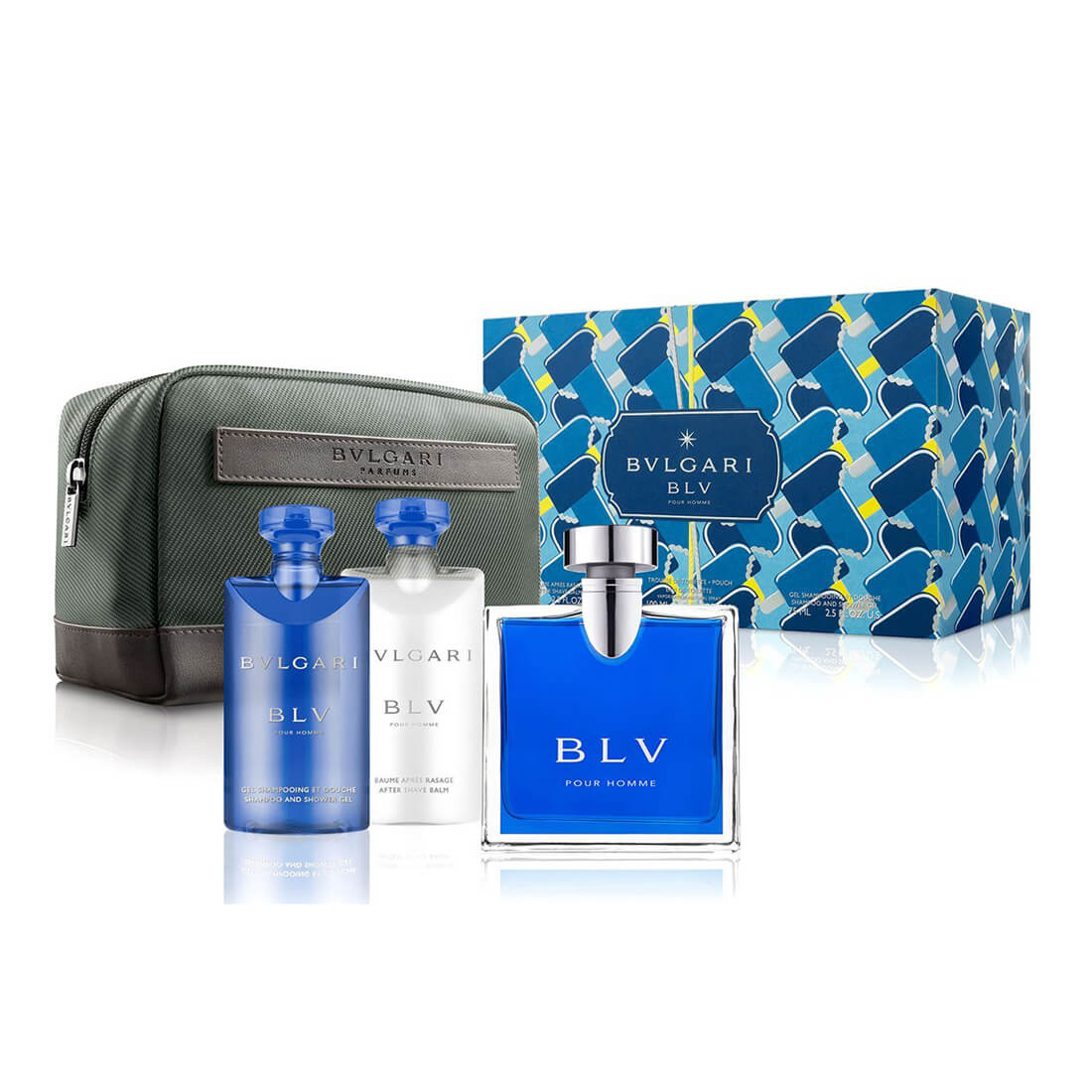 Bvlgari BLV Pour Homme Gift Set For Men