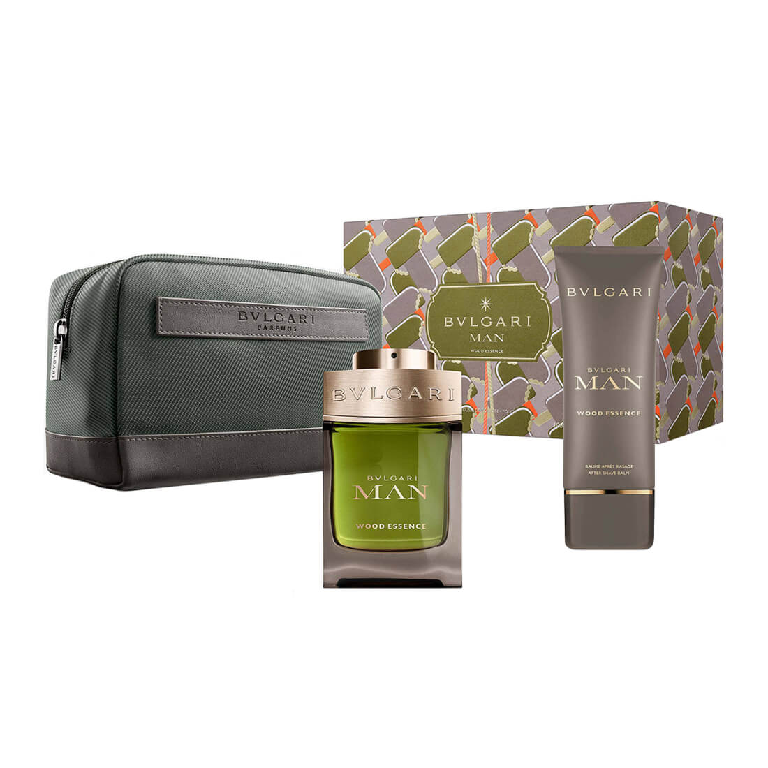 Bvlgari Man Wood Essence Gift Set For Men