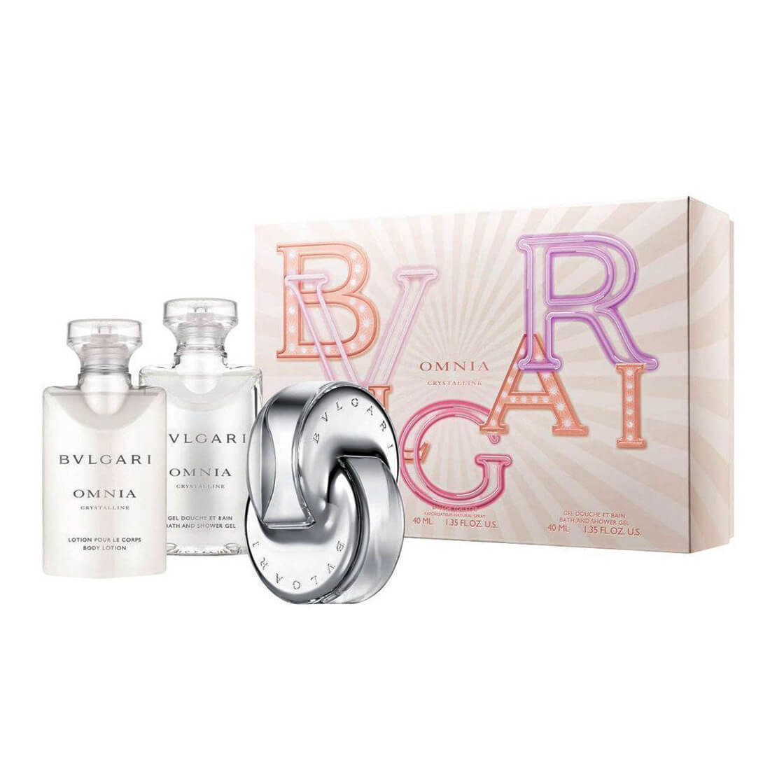 Bvlgari Omnia Crystalline Gift Set Pack Of 3