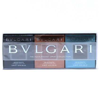 Bvlgari The Aqva Pocket Spray Collection Gift Set For Men 3 x 15ml