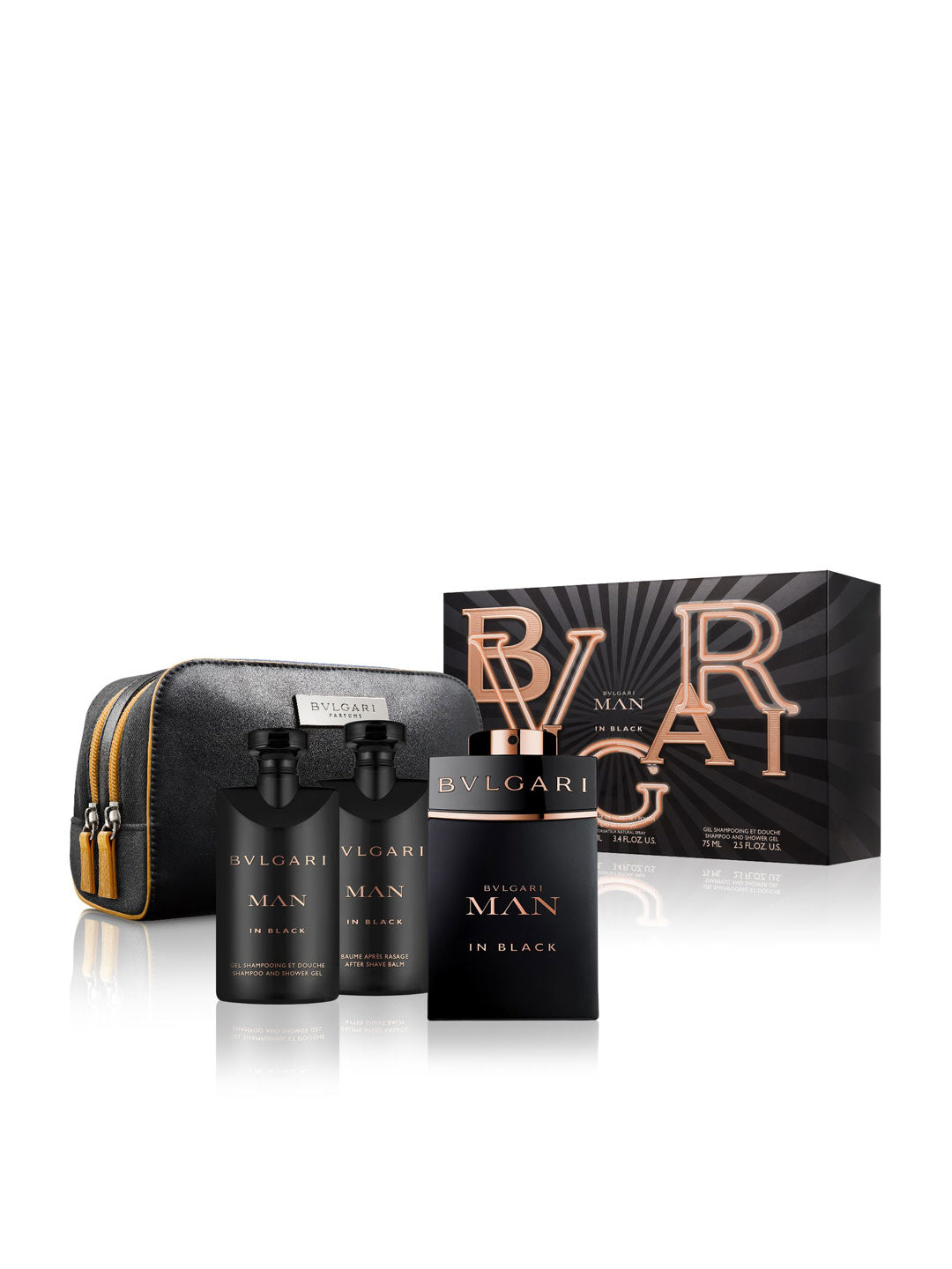 Bvlgari Man In Black Fragrance Gift Set with Pouch