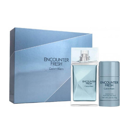 Calvin Klein Encounter Fresh Perfume Gift Set For Men EDT 100ml + Deodorant Stick 75ml