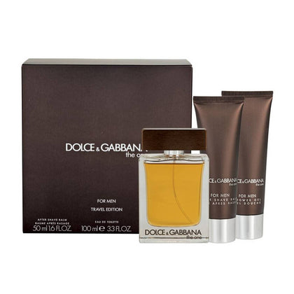 Dolce & Gabbana The One Travel Edition Perfume Gift Set For Men EDT 100ml + Aftershave Balm 50ml + Shower Gel 50ml