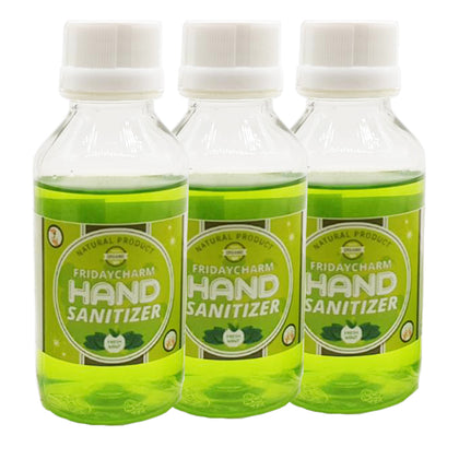 FridayCharm Organic Hand Sanitizer Mint Flavour 100ml ( Pack of 3 )