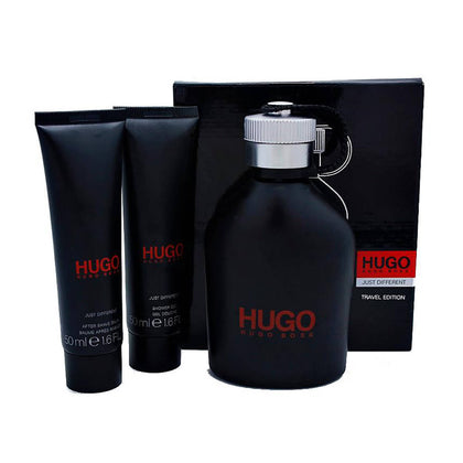 Hugo Boss Just Different Travel Edition Perfume Gift Set For Men EDT 150ml, After Shave Balm 50ml and Shower Gel 50ml