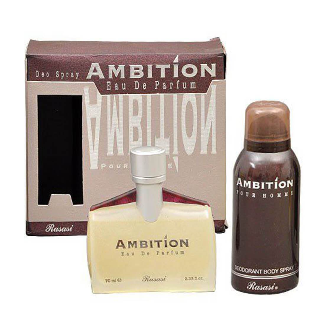 Rasasi Ambition Men Perfume 70ml + Deodorant 150ml