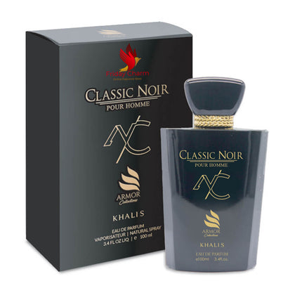 Khalis Classic Noir Men Fragrance Spray - 100 ml