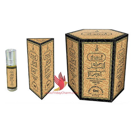 Khalis Jawad Al Layl Fragrance 6 ml Attar Pack of 6