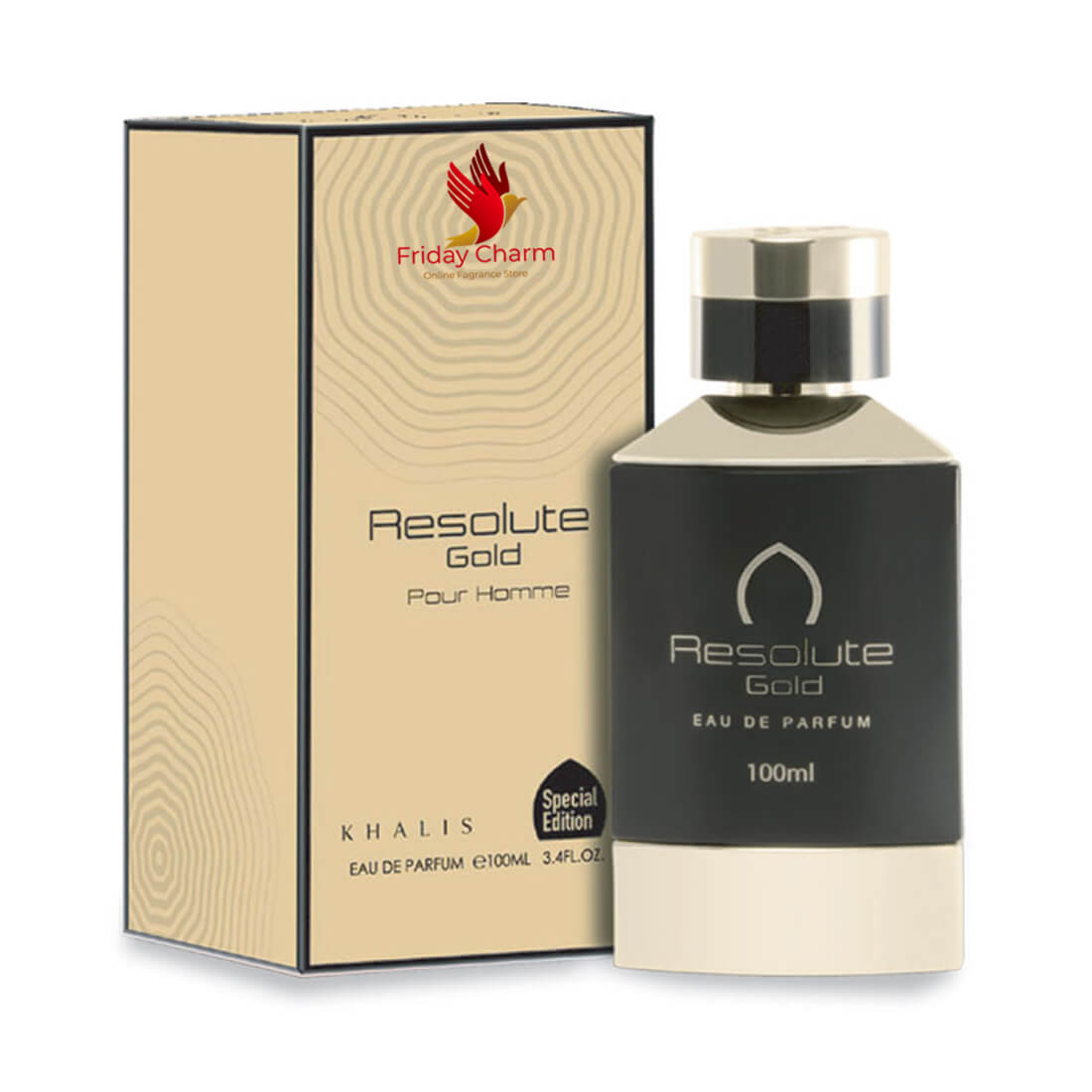 Khalis Resolute Gold Fragrance Spray - 100 ml
