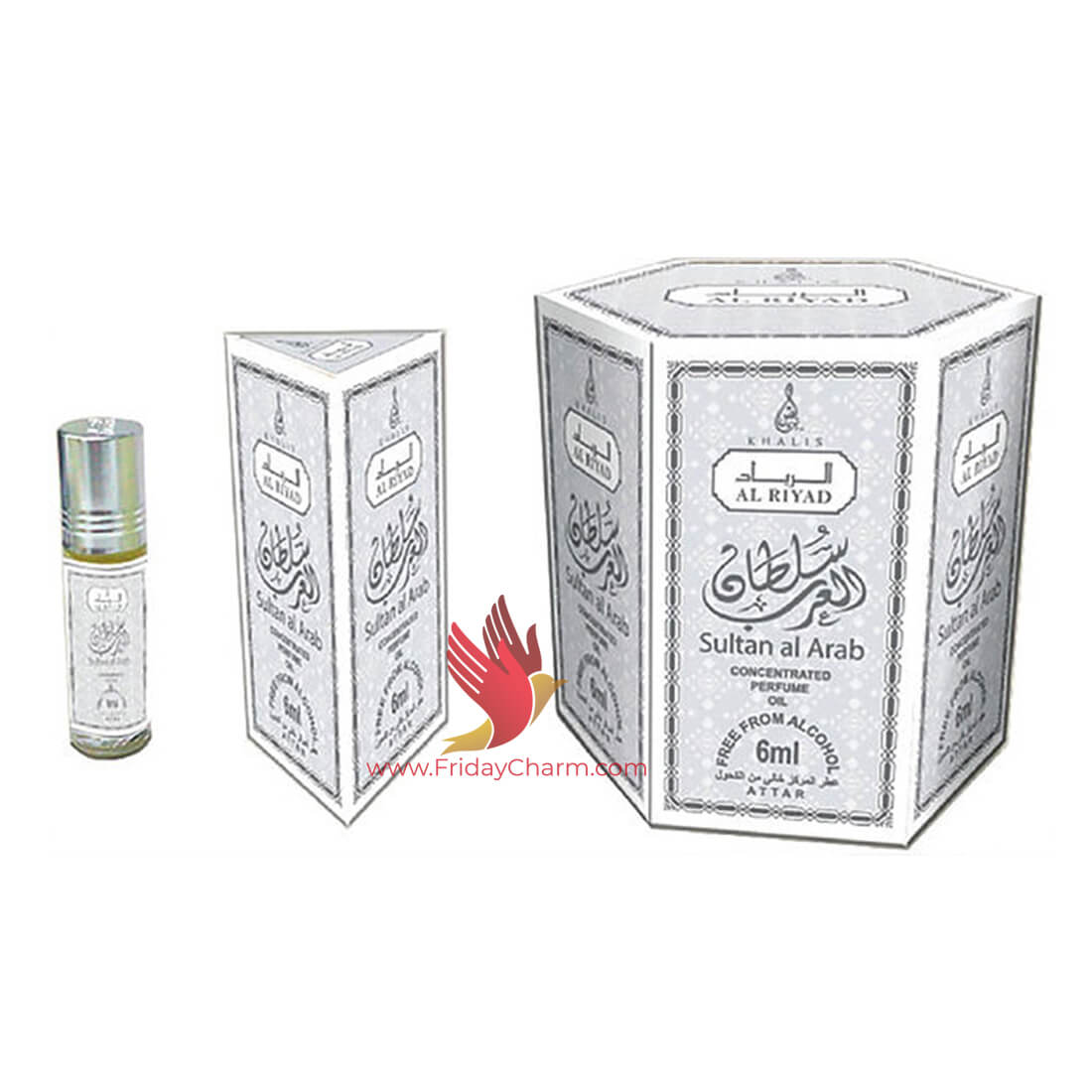 Khalis Sultan Al Arab Fragrance Attar 6ml  Pack of 6