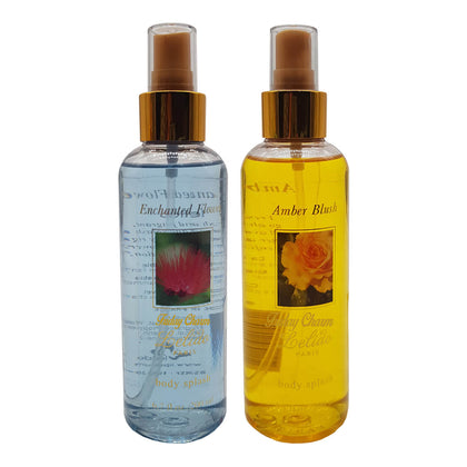 Lelido Paris Enchanted Flower & Amber Blush Body Splash Mist 200ml