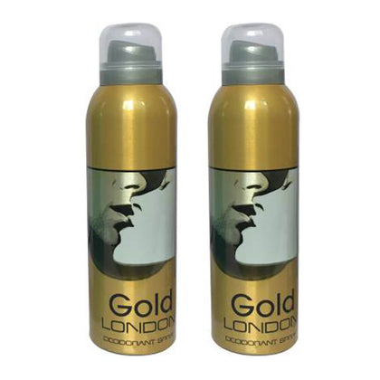 London Gold Deodorant Body Spray Pack of 2 x 200ml