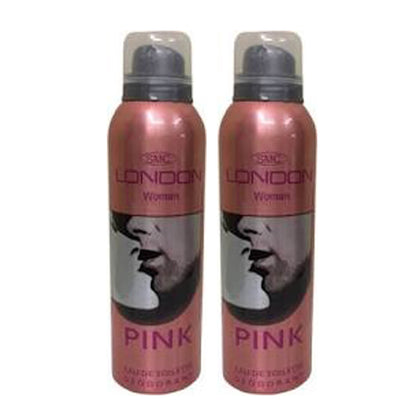 London Pink Deodorant Body Spray Pack of 2 x 200ml