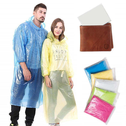 Pocket Size Rain Poncho, Rain Coat For Men & Women (Multicolor, Free Size) Pack of 5