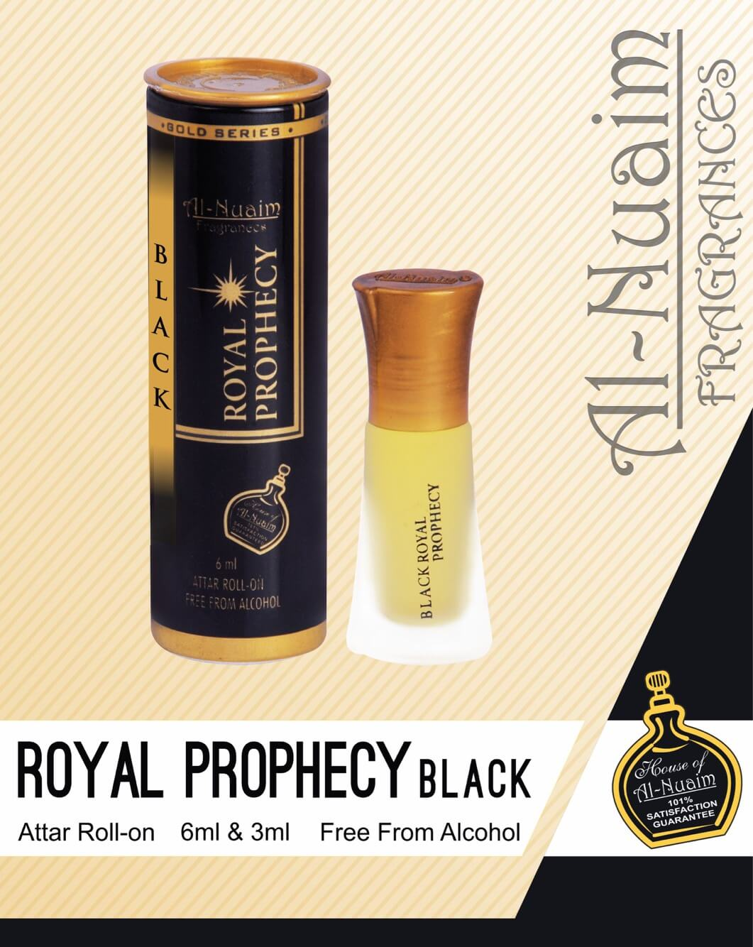 Al Nuaim Royal Prophecy Black Attar 6ML