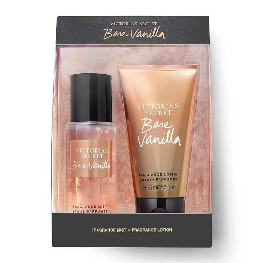 Victoria's Secret Bare Vanilla Fragrance Gift Set Mist & Lotion