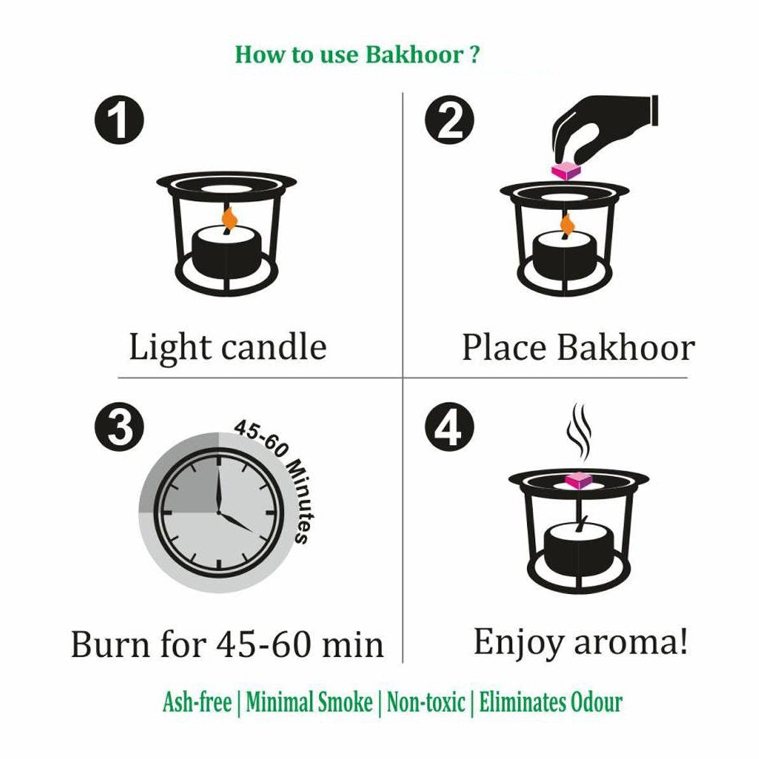 Electrical Bakhoor Burner & 50g Fragrance Paste - Silver