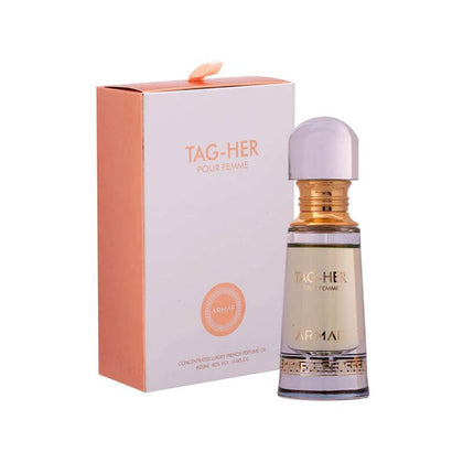 Armaf Tag Her Pour Femme Concentrated French Perfume Oil Alcohol Free (Attar)-20ml