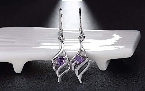 Women Purple Long Earrings - OutFancy