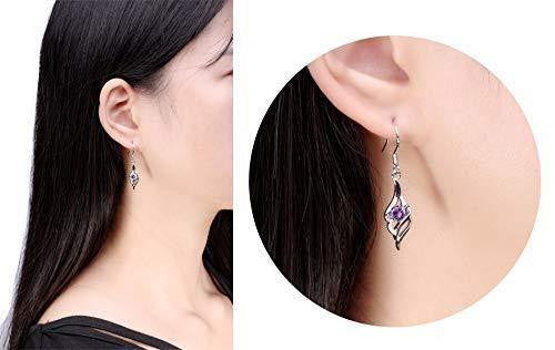 Women Purple Long Earrings