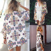 Floral Loose Kimono Cardigan - OutFancy