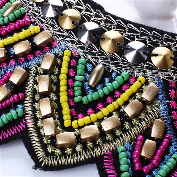 Vintage in Style Tribal Colorful Choker - OutFancy