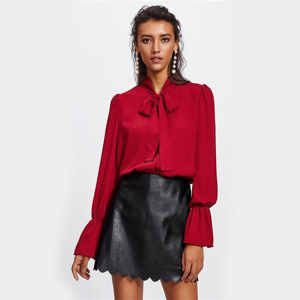 MAKE IT LAST Faux Leather Skirt - OutFancy