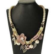NEW fashion Collar Flower & Pearl Necklaces - OutFancy