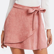 CAN'T TOUCH THIS Suede Staggered Skirt - OutFancy