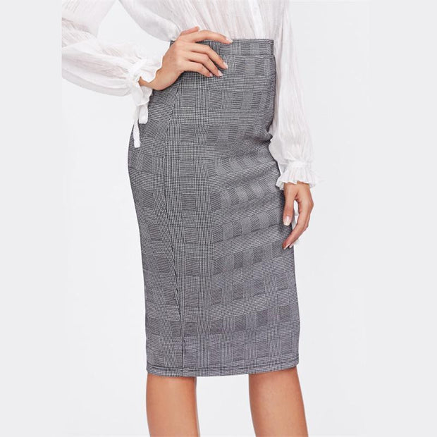 AT YOUR OWN RISK Pencil Skirt - OutFancy