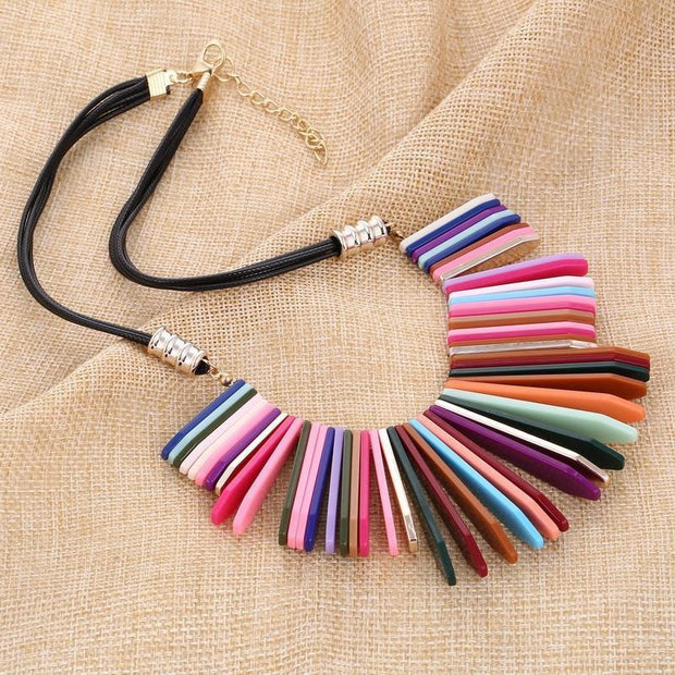DARLING DAYS Statement Colorful Choker Necklace - OutFancy