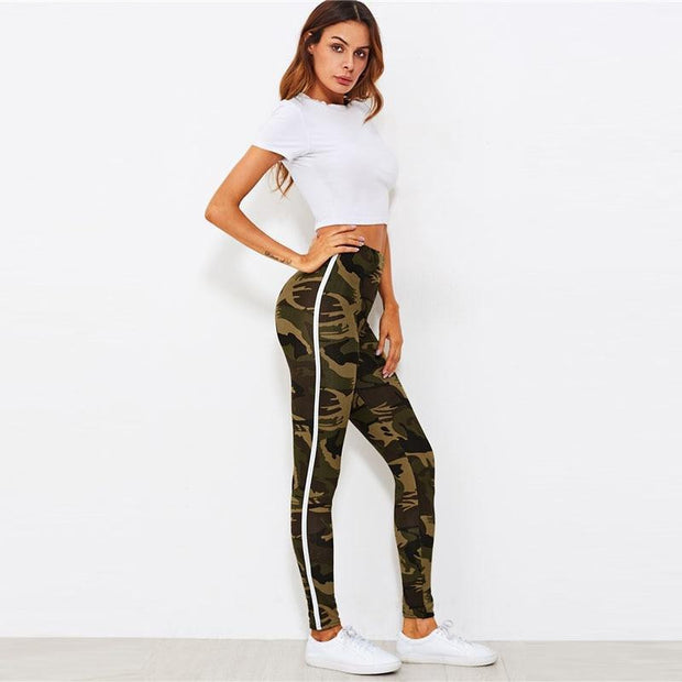 RIDE OR DIE Camo Leggings - OutFancy