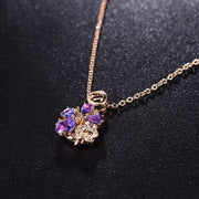 Women Flower Pendant Charms Jewelry - OutFancy