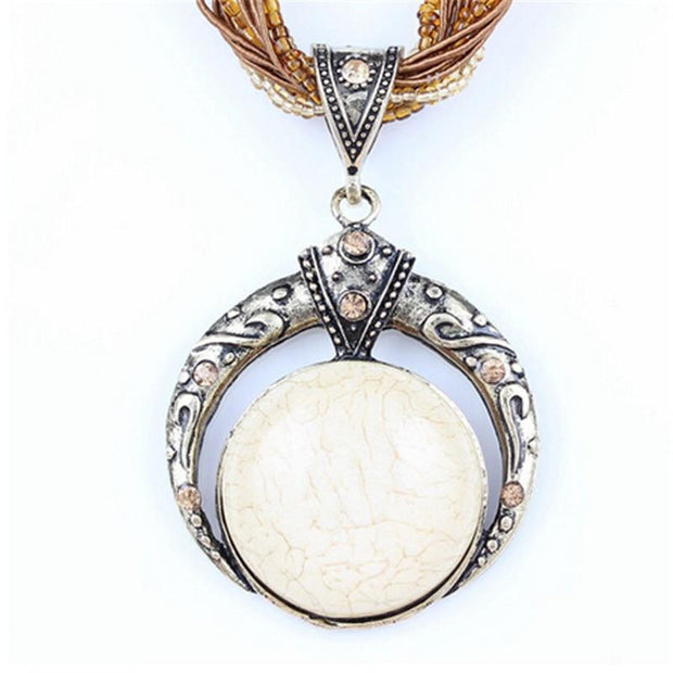Female vintage natural stone pendants&necklaces - OutFancy