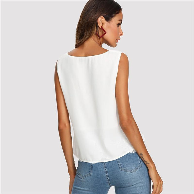 CLASSY TALKS Casual Tank Top - OutFancy