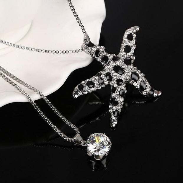 Women Vintage Crystal Maxi Colar Necklaces