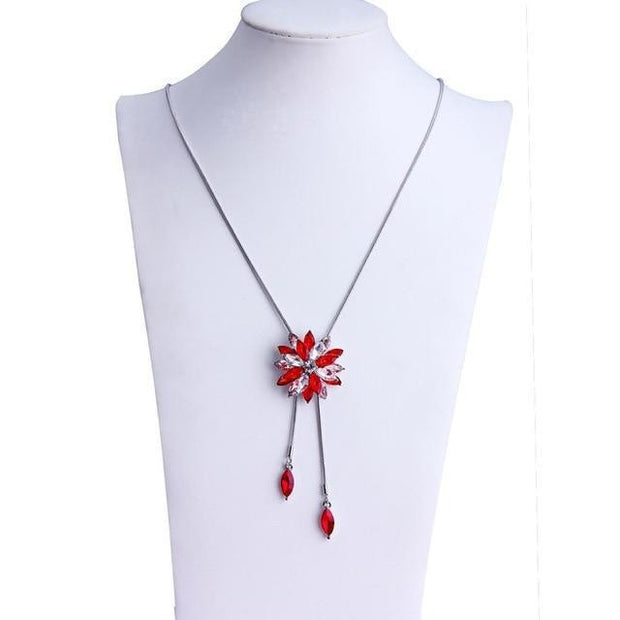 Fashion Silver Plated Chain Drops Maxi Necklaces - OutFancy