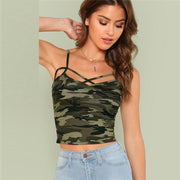 GOOD TIMES Camo Print Cami Top - OutFancy
